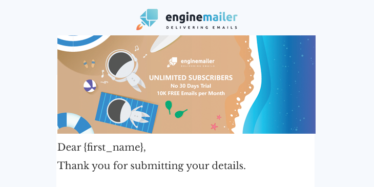 Enginemailer email with illustrations