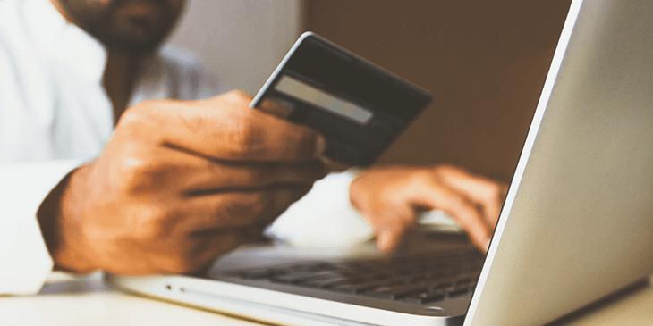 A customer shopping online.